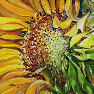 Art: SUNFLOWER DAWNING by Artist Marcia Baldwin