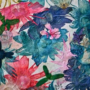 Art: Flower Mania by Artist Ruth Edward Anderson