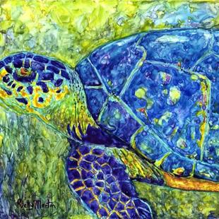 Art: Sea Turtle - sold by Artist Ulrike 'Ricky' Martin