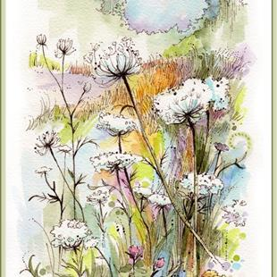 Art: Queen Anne's Lace by Artist Patricia  Lee Christensen
