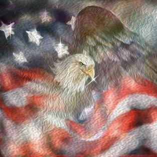 Art: Emerging Eagle Remember by Artist Alma Lee