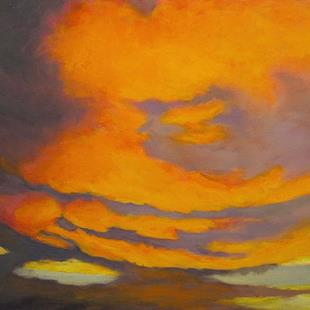 Art: Storm Clouds at Sunrise by Artist Virginia Ann Zuelsdorf