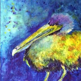 Art: Pelican Abstract - sold by Artist Ulrike 'Ricky' Martin