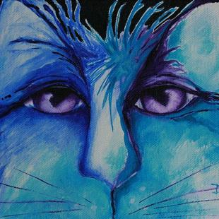 Art: Blue by Artist Deb Harvey
