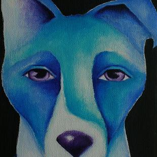 Art: Blue Dog by Artist Deb Harvey