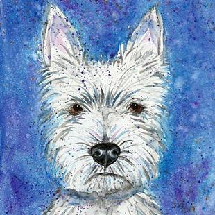Art: Impression of a Westie Dog by Artist Melinda Dalke
