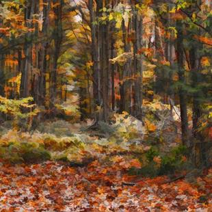 Art: Fall Leaves by Artist Carolyn Schiffhouer