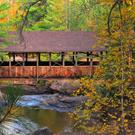 Art: Horton Bridge in Autum by Artist Stephanie M. Daigle