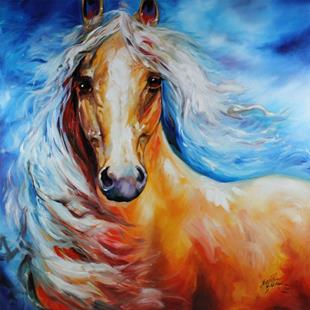 Art: STARBRIGHT PALOMINO by Artist Marcia Baldwin