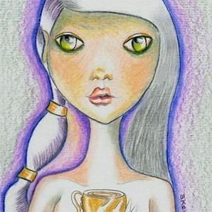 Art: Tarot Art - Ace of Cups by Artist Sherry Key