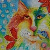 Art: Fevrier Chat by Artist Deb Harvey