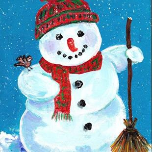 Art: Happy Snowman by Artist Ulrike 'Ricky' Martin