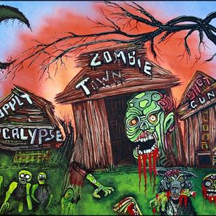 Art: Zombie Town by Artist Laura Barbosa