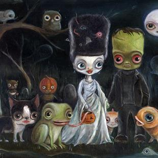 Art: The FrankenWibbles by Artist Vicky Knowles