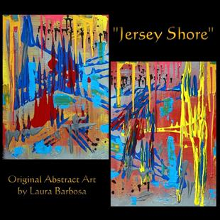 Art: Jersey Shore by Artist Laura Barbosa