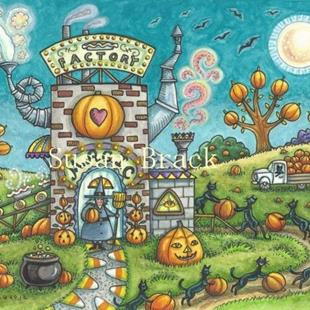 Art: MYSTICAL MAGIC PIE FACTORY by Artist Susan Brack