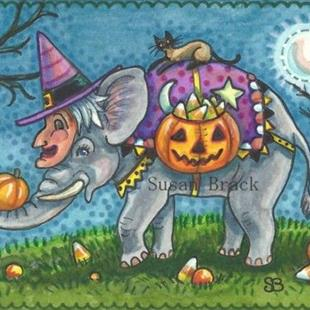 Art: WITCH IN AN ELEPHANT COSTUME by Artist Susan Brack