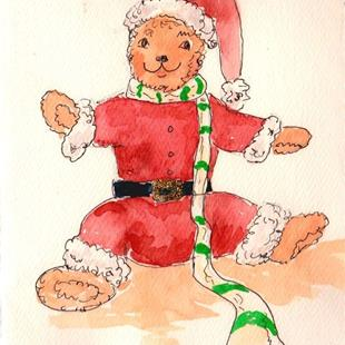 Art: Christmas Teddy by Artist Ulrike 'Ricky' Martin