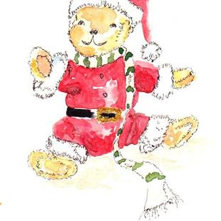 Art: Christmas Teddy Junior by Artist Ulrike 'Ricky' Martin
