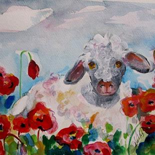 Art: Sheep Deep-sold by Artist Delilah Smith