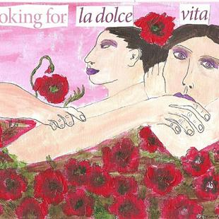 Art: Looking For La Dolce Vita by Artist Nancy Denommee