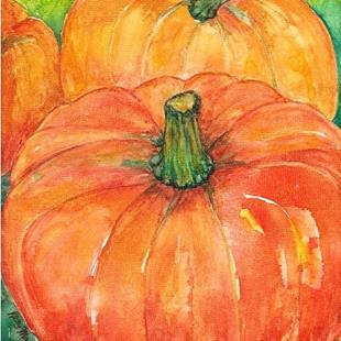 Art: Pumpkins - sold by Artist Ulrike 'Ricky' Martin
