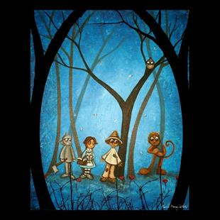 Art: Lions and Tigers and Bears, Oh My - Sold by Artist Charlene Murray Zatloukal