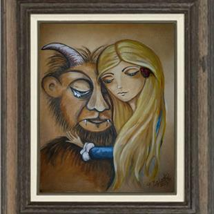 Art: Beauty and the Beast - sold by Artist Charlene Murray Zatloukal