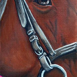 Art: English Horse Head  (SOLD) by Artist Monique Morin Matson