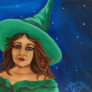 Art: Green Witch (SOLD) by Artist Monique Morin Matson