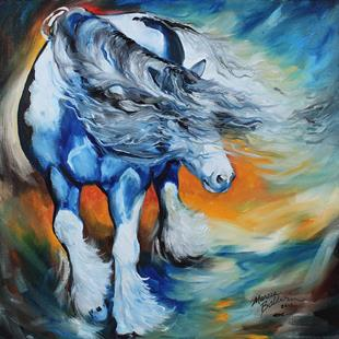 Art: GYPSY VANNER WIND by Artist Marcia Baldwin