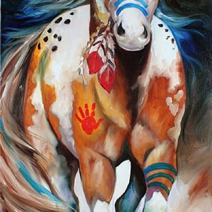 Art: BRAVE ~ the INDIAN WAR HORSE by Artist Marcia Baldwin