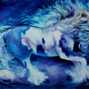 Art: GYPSY VANNER in BLUE by Artist Marcia Baldwin