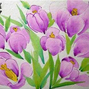 Art: Crocus, an Oriental Symphony by Artist Tracey Allyn Greene
