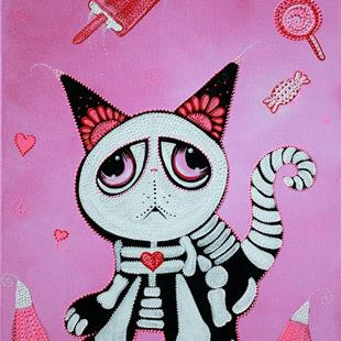 Art: Kitty Cat Candy by Artist Laura Barbosa