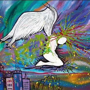 Art: The Fallen Angel 2012 by Artist Laura Barbosa
