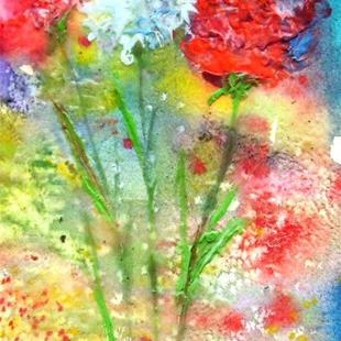 Art: Flowers of Youth - sold by Artist Ulrike 'Ricky' Martin