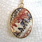 Art: Birds & Blooms Chiyogami Pendant by Artist So Jeo LeBlond