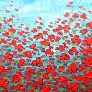 Art: Red Poppies (s) by Artist Luba Lubin