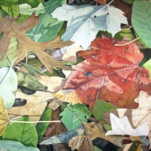 Art: Fall - oil painting by Artist Harlan