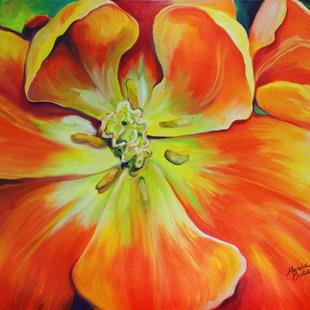 Art: HOLLAND TULIP AWAKENING by Artist Marcia Baldwin