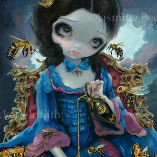 Art: Queen of Bees ORIGINAL PAINTING by Artist Jasmine Ann Becket-Griffith