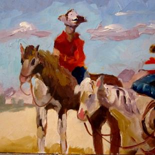 Art: Cowboys by Artist Delilah Smith