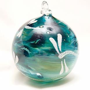 Art: 2012 Dragonfly Ball Aqua Marble #4 of 24 by Artist Rebecca M Ronesi-Gutierrez