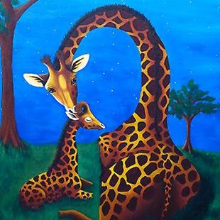 Art: Justice's Giraffes (Commission) by Artist Monique Morin Matson