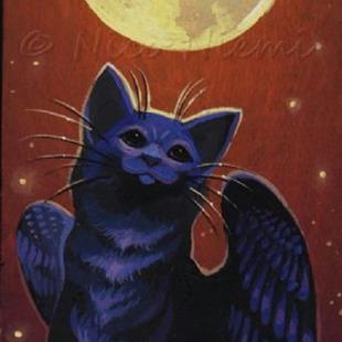 Art: Whiskers and Moonlight by Artist Nico Niemi
