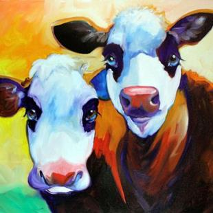 Art: FUN COWS DEAUX by Artist Marcia Baldwin