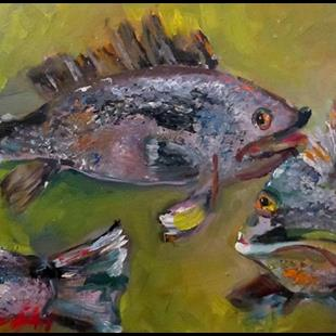 Art: Black Sea Bass by Artist Delilah Smith