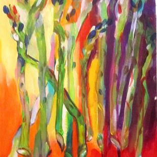 Art: Wild Asparagus-SOLD by Artist Delilah Smith