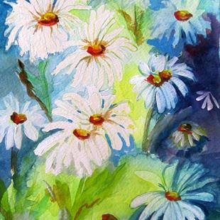 Art: Big Dasies by Artist Delilah Smith